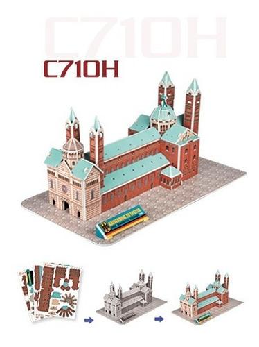 c710h catedral speyer 41 piezas rompecabezas 3d cubicfun