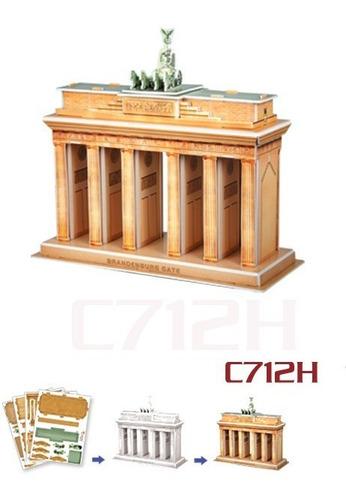 c712h puerta brandenburgo rompecabezas 3d cubicfun  31piezas