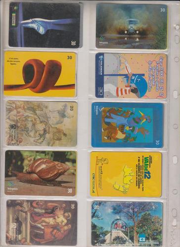 c72a - 10 cartões telefônicos coleção o lote por r$ 9,00