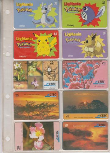 c74 - 10 cartões telefônicos coleção o lote por r$ 9,00