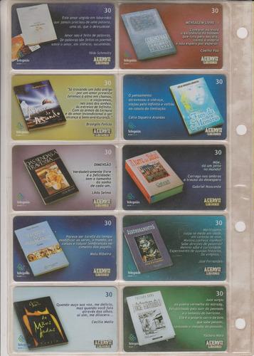 c84a - 10 cartões telefônicos coleção o lote por r$ 9,00
