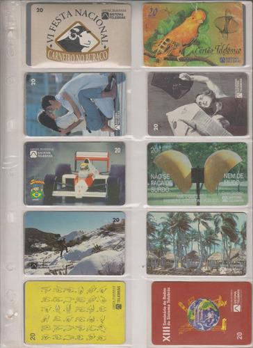 c92 - 10 cartões telefônicos coleção o lote por r$ 9,00