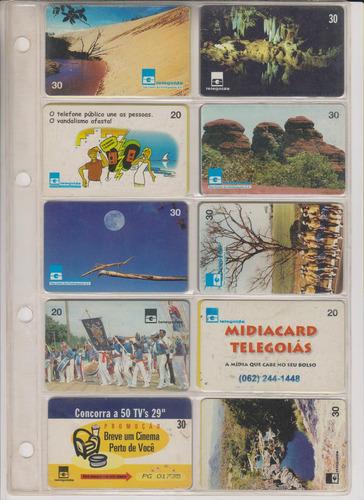 c93 - 10 cartões telefônicos coleção o lote por r$ 9,00