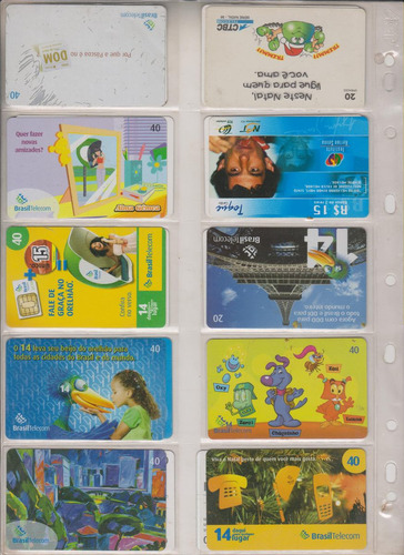 c97 - 10 cartões telefônicos coleção o lote por r$ 9,00
