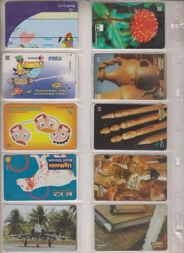 c98 - 10 cartões telefônicos coleção o lote por r$ 9,00