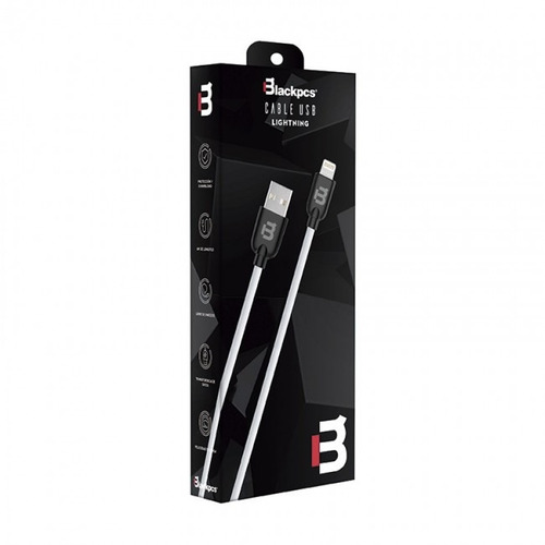 ca-colors  cable lightning blanco 100 cm 2a blackpcs  cawlp