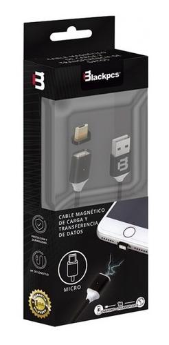 ca-magnetico cable v8 negro 100 cm 2a blackpcs  cablmtm-4
