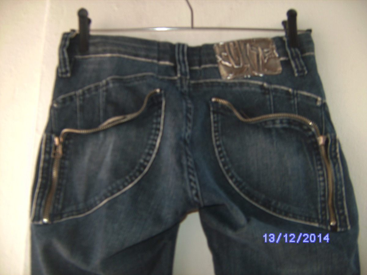 4c43a0f7b533e Ca064 - Calça Jeans Com Stretch Manequim 36 Eckzem - R  75,00 em ...