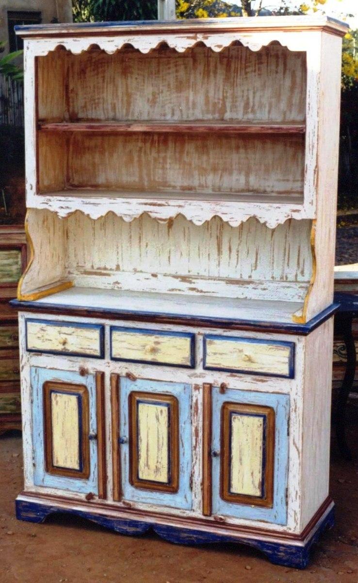 Armarios Para Jardin Ikea ~ Ca1201 Armário Cozinha Em Madeira De Demoliç u00e3o Policromia R$ 4 273,50 em Mercado Livre