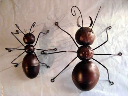 Adesivo Para Envelopamento De Geladeira Rj ~ Ca508 Enfeite De Parede Formigas Artesanato Em Ferro R$ 184,80 em Mercado Livre