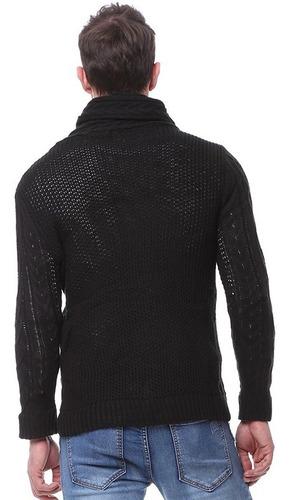caballeros blusas gruesas de cuello alto de cachemira suéter