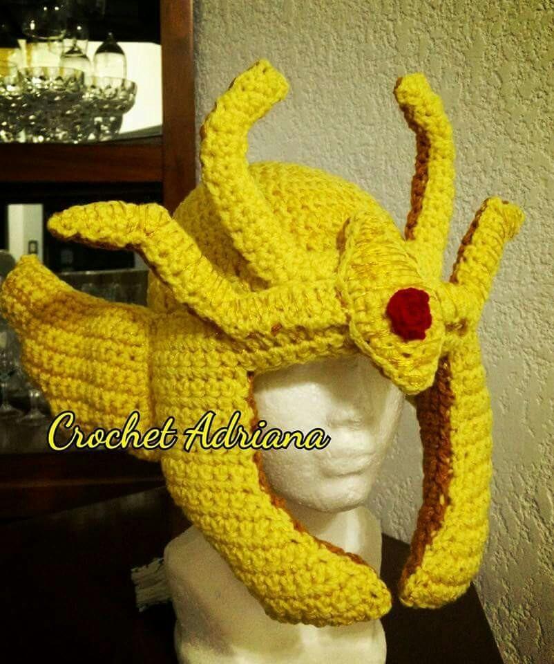 Caballeros zodiaco pegaso gorro tejido en mercado libre jpg 802x960  Armadura gorros de tejido afc47b53857