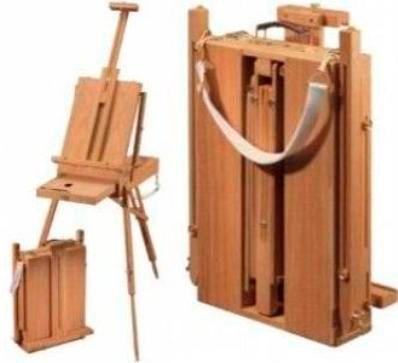 caballete atril profesional portátil de bamboo !!