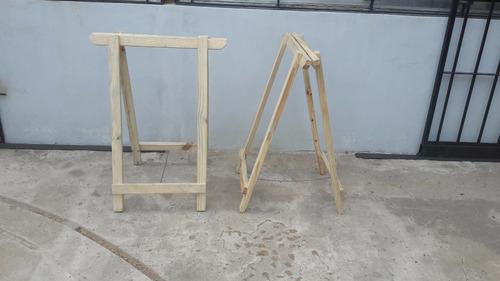 caballete de madera pino plegable - 0,60 m ancho x 0,70 m. - mader shop