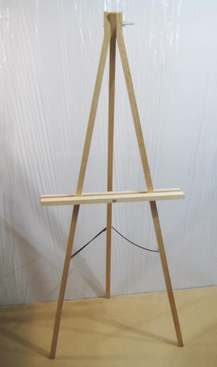 caballete de madera sencillo para exposiciones plegable