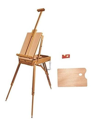 caballete francés - soporte portátil de madera de arte fran