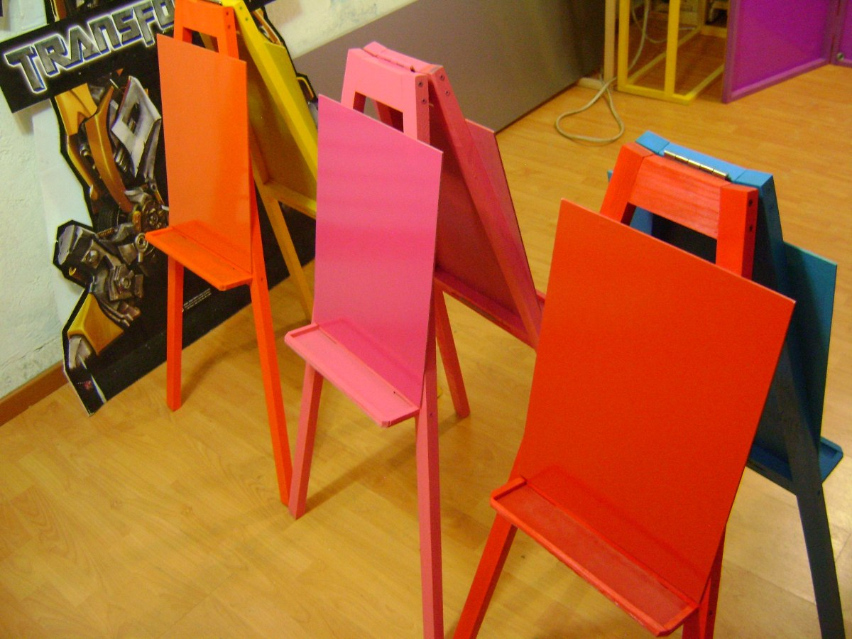 Caballete infantil doble en color en mercado libre - Pinturas para pintar madera ...