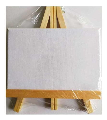 caballete + lienzo de 12*17 con marco