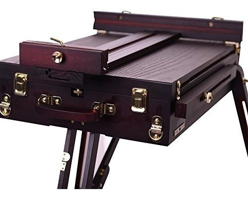 caballete mont marte con caja color negro