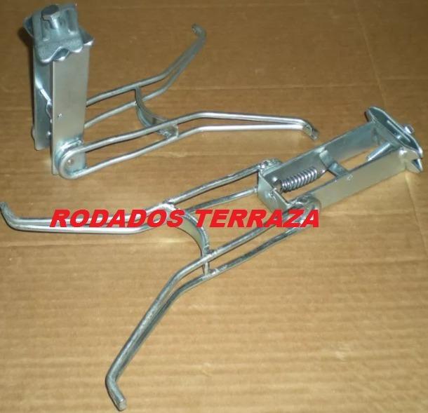b97ce231be1e0 Caballete Pie Muleta Metal Bici Inglesa Rodados Terraza -   319