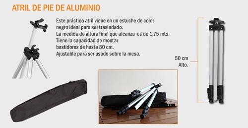 caballete pintura de pie plegable aluminio incluye bolso