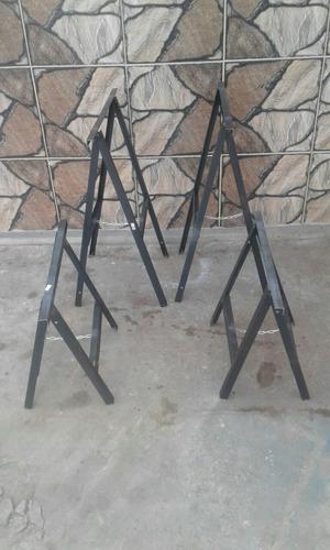 Caballete plegable de hierro metalico metal 290 00 - Caballetes de hierro ...