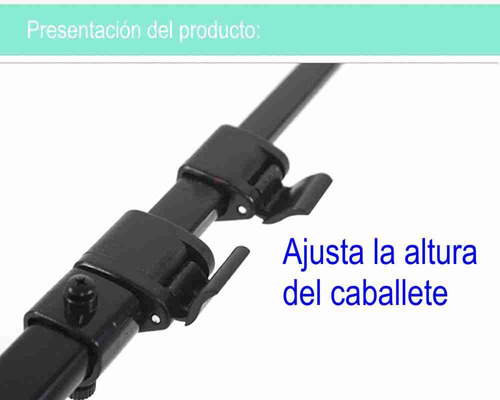 caballete portátil ajustable de aleación de aluminio