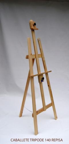 caballete tripode 140cm para pintar en pino casa orsay