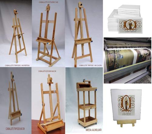caballete  tripode mesa  15cm para pintar en pino casa orsay