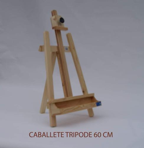caballete  tripode mesa  60cm para pintar en pino casa orsay