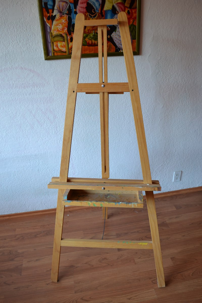 Caballete madera resistente bastidores oleo arte for Pintura para madera