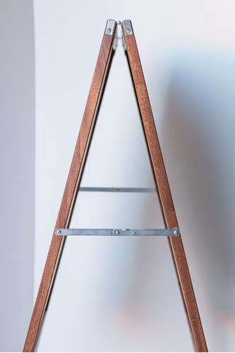 caballetes caballete de madera teñida de doble cara plegable