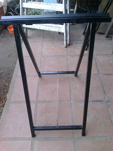 caballetes de hierro reforzados plegables a medida 80x60cm