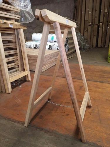 caballetes de madera reforzado plegable