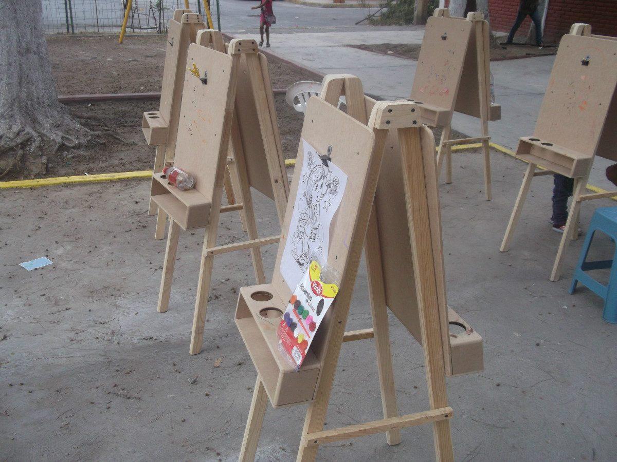 Caballetes infantiles en mercado libre for Medidas sillas ninos