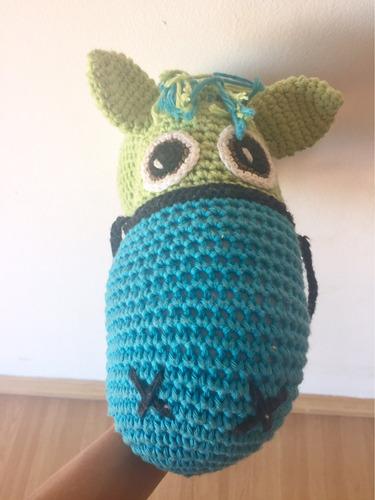 caballito en croché único juguete andador pata pata fischer