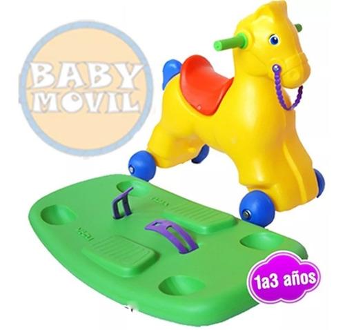 caballito mecedor andarin pata pata 2 en 1 vegui babymovil