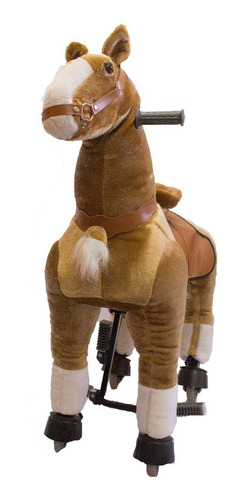 caballito pony funny grande con rueda andador marrón claro