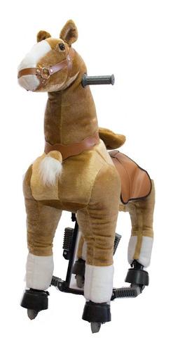 caballito pony funny grande con rueda andador marrón oscuro