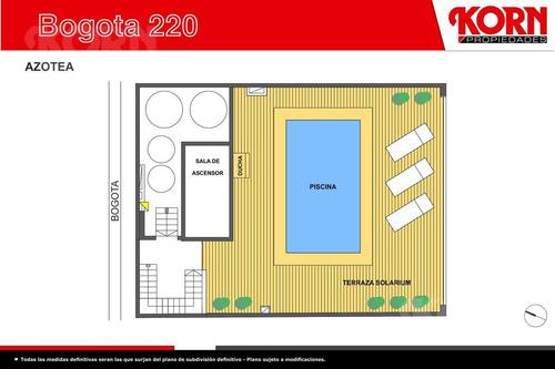 caballito - semipiso en venta de 3 ambientes  con patio  en pozo