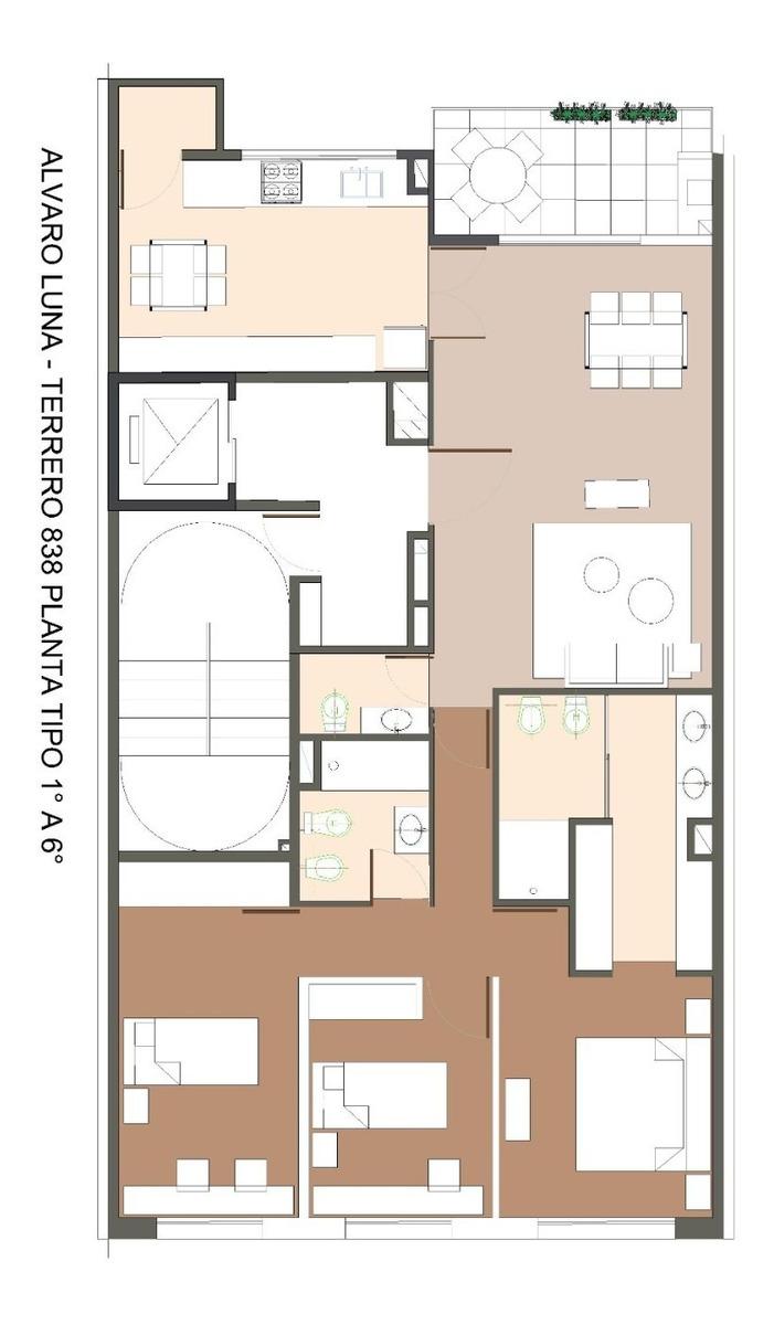 caballito. venta en pozo pisos de 4 ambientes en 4° piso