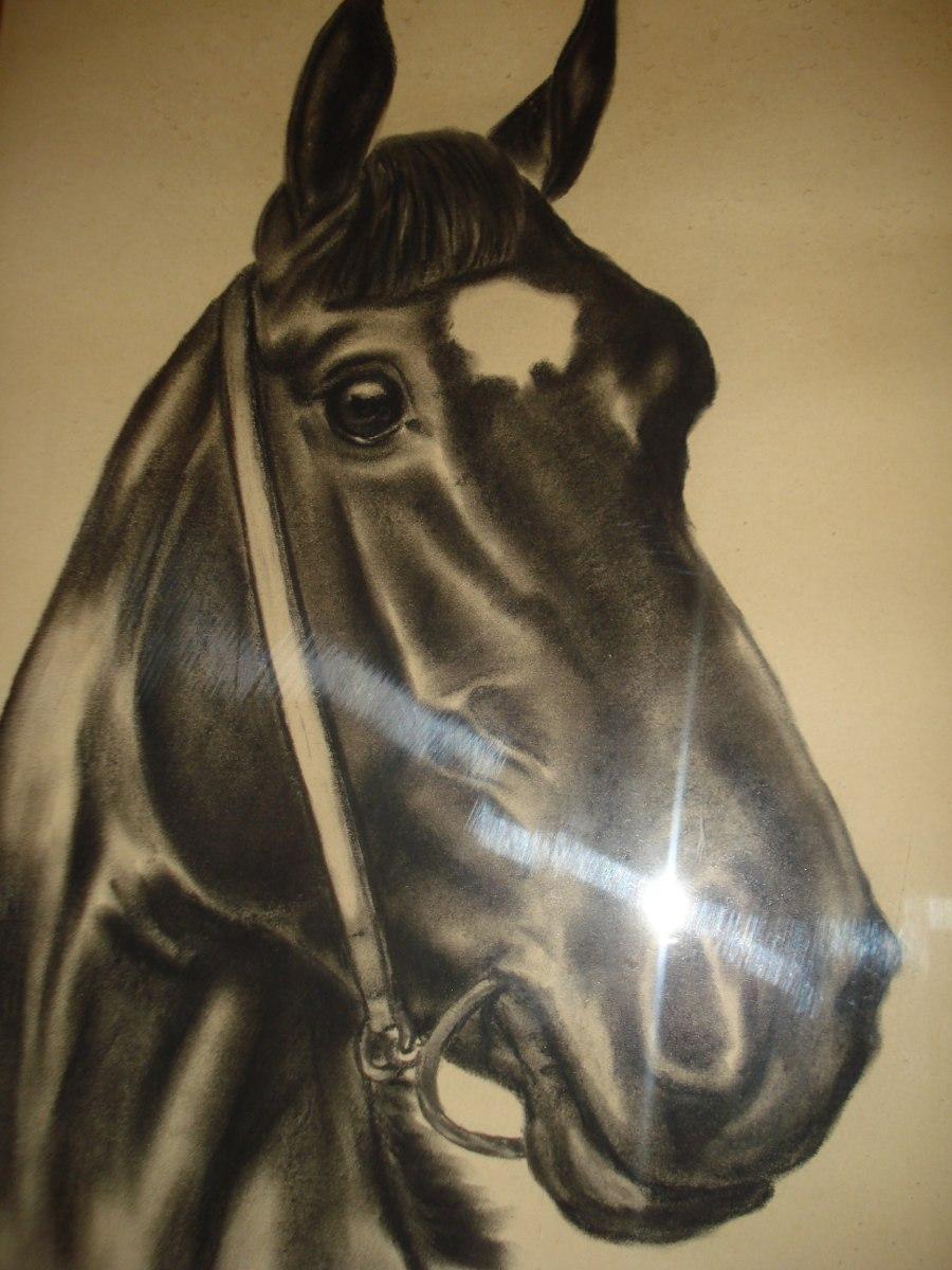 Caballo-antiguo Cuadro- Lápiz Firmado-enmarcado 65x48 - $ 1.400,00 ...