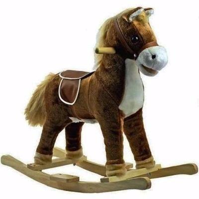 caballo balancin madera felpa oferta