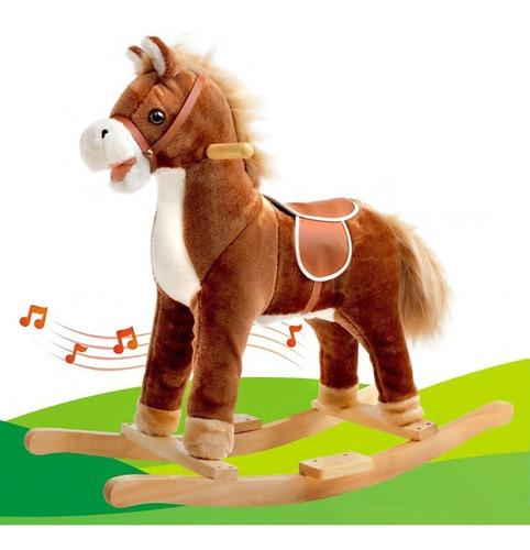 caballo caballito mecedor jem sonido base madera babymovil