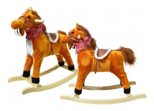caballo caballito mecedor sonido base madera babymovil