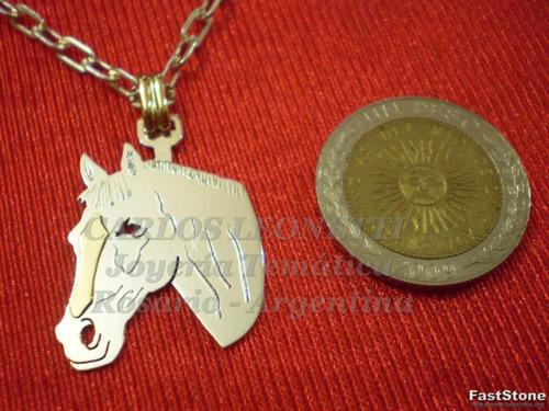 caballo - dije plata 925 - oro 18k