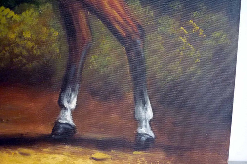 caballo, oleo sobre tela