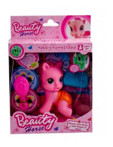caballo poni + accesorios niños jugar oferta