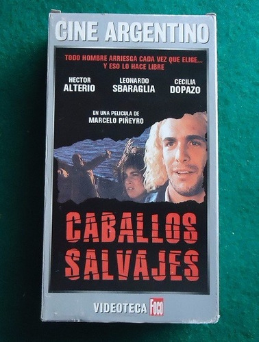 caballos salvajes - cine argentino - formato vhs