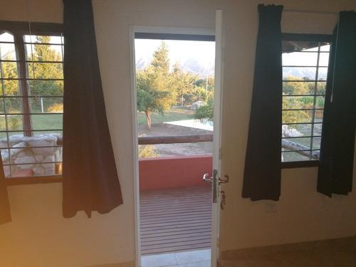 cabaña con piscina, tres ambientes, cochera-quincho